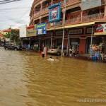 Überschwemmt in Siam Reap, Kambodscha