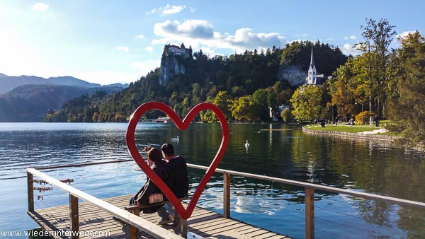 Bled am See Herz