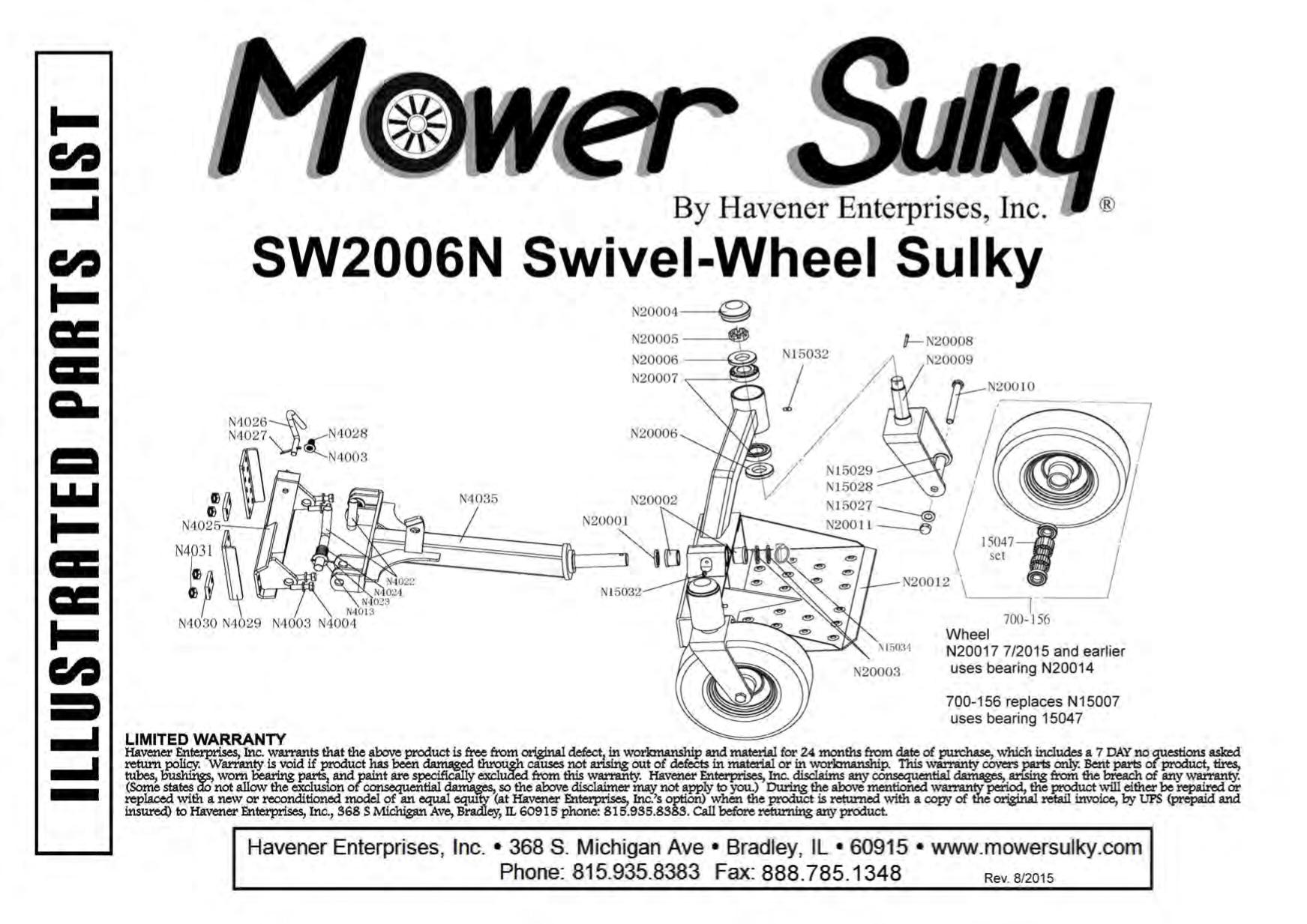 swivel wheel sulky