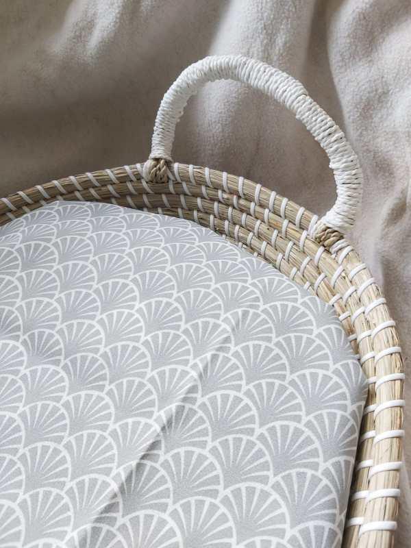 verzorgingsmand waterafstotend hoesje grijs wafel