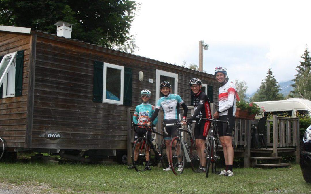 Wielerttochten testteam bij RCN Belledonne in Franse Alpen