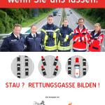 Wir helfen gerne, wenn Sie uns lassen! Rettunggasse rettet Leben!