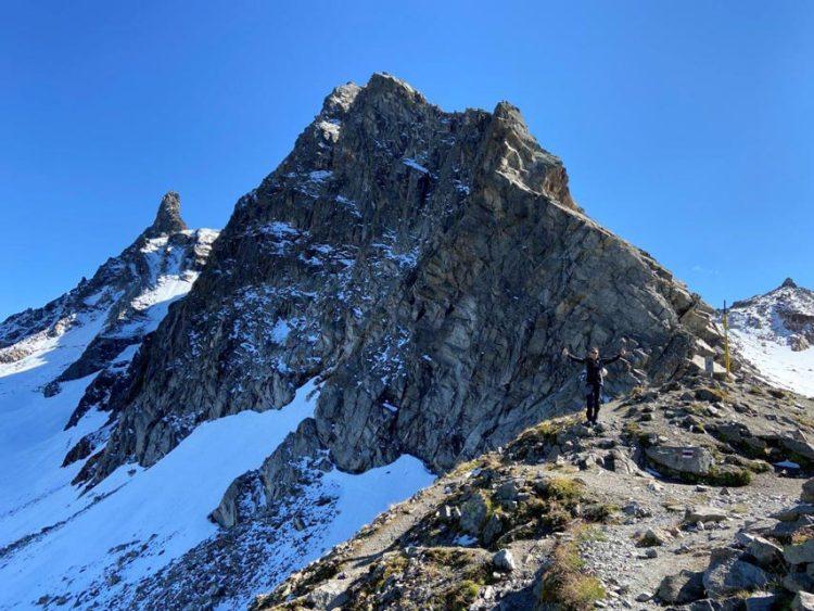 Das Bild zeigt den Großlitzner mit dem Seehorn um das Thema Klettern Silvretta im alpinen Bereich zu zeigen.