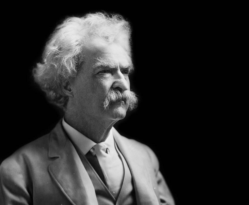 Mark Twain schwarz weiß
