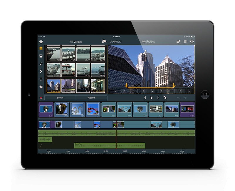 Pinnacle Studio auf iPad
