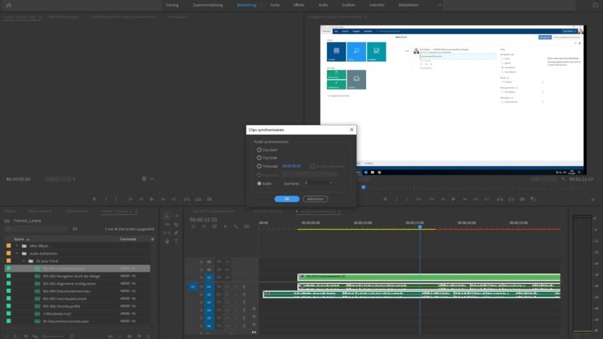 Screenshot Adobe Premiere