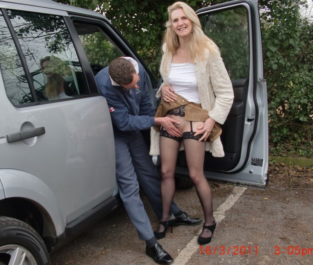 This Mature Slut Who Is Just About To Get Fucked In Her Car In Broad Daylight At The Parking Lot This Is One Of Wifebuckets Best Car Porn Galleries