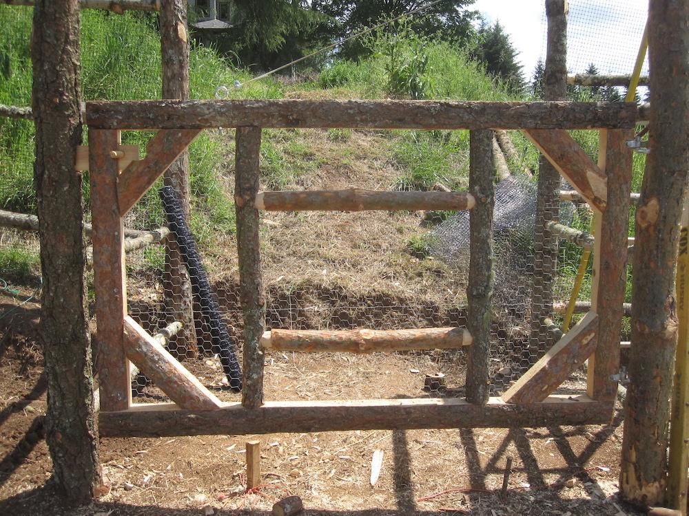 Handmade garden gate, hand milled lumber too