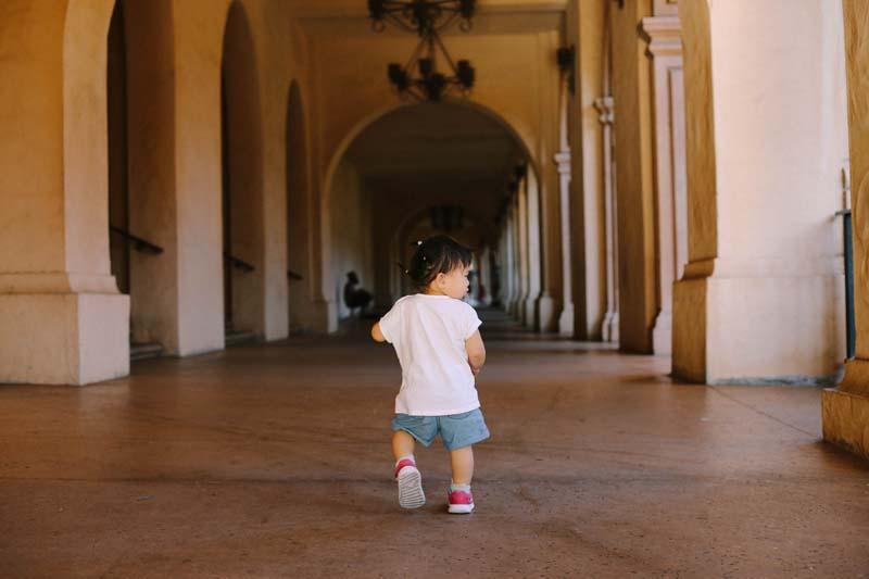 Toddler at Balboa Park