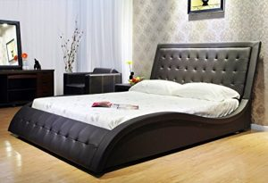 This Model Of King Size Bed Developed By Greatime Has A Luxury And Edgy Design Creating Substantial Visual Impact In Your Bedroom With Its Curvy Lines
