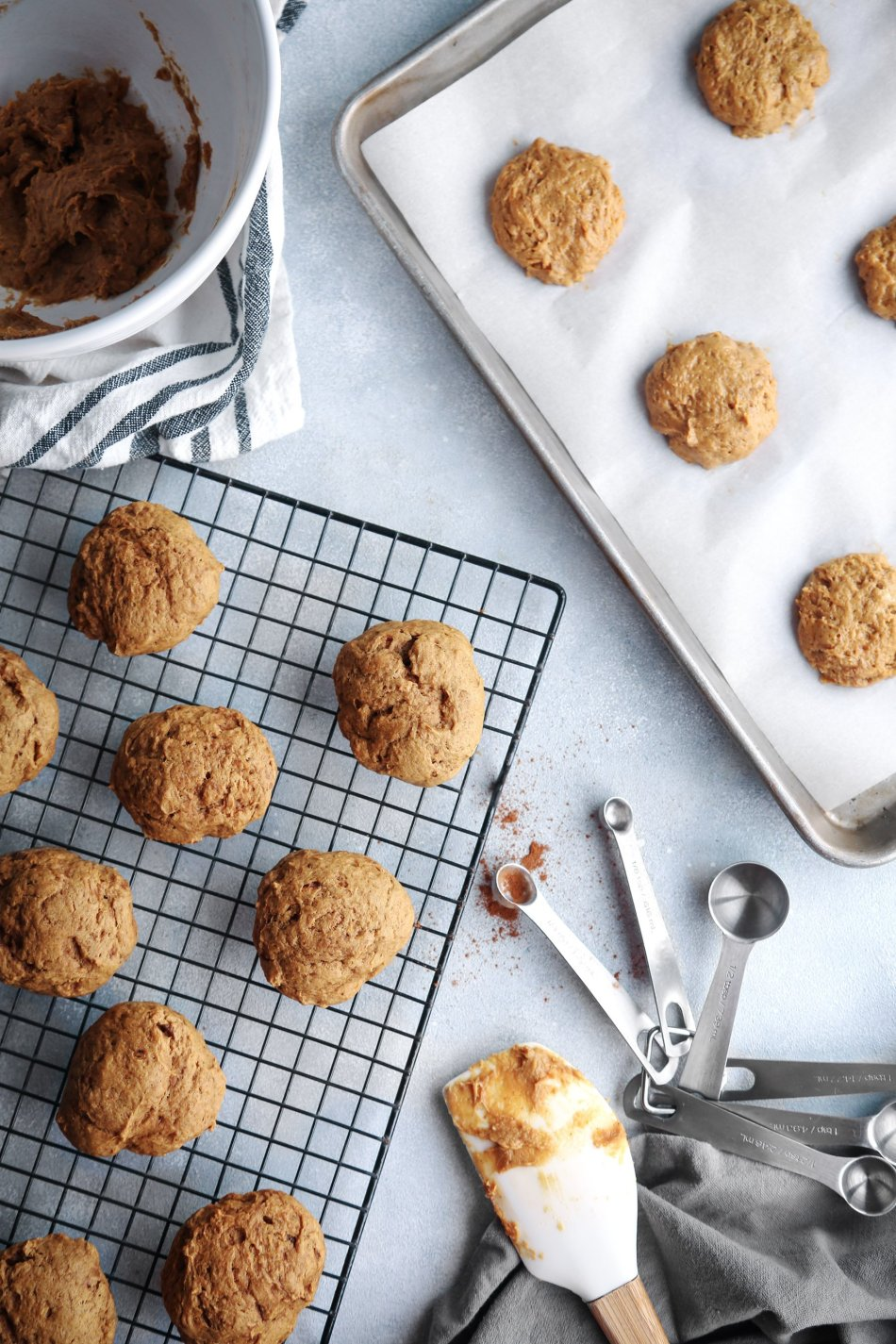 Chai-Spiced Pumpkin Cookies | Free of dairy, eggs, and refined sugar with gluten-free option. Vegan friendly.
