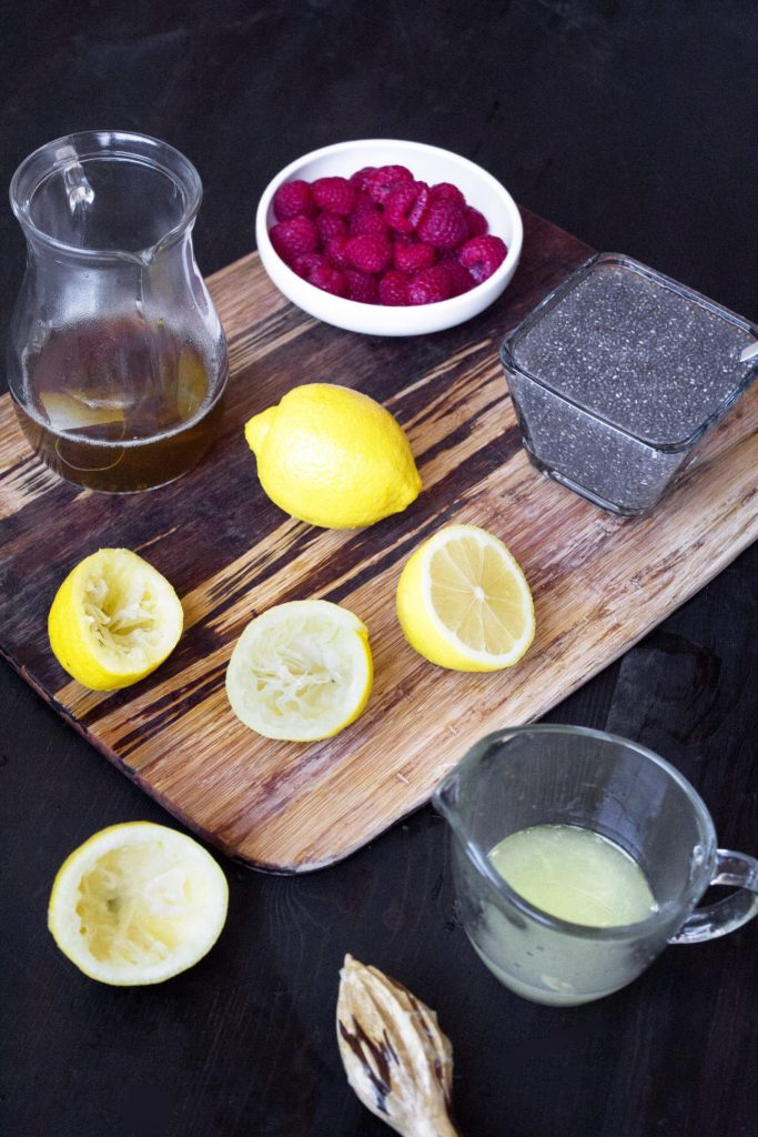 Raspberry Green Tea Lemonade With Chia | Deliciously refreshing and full of wholesome ingredients!