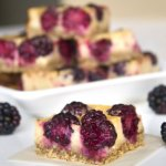 Blackberry Lemon Bar Cut Up