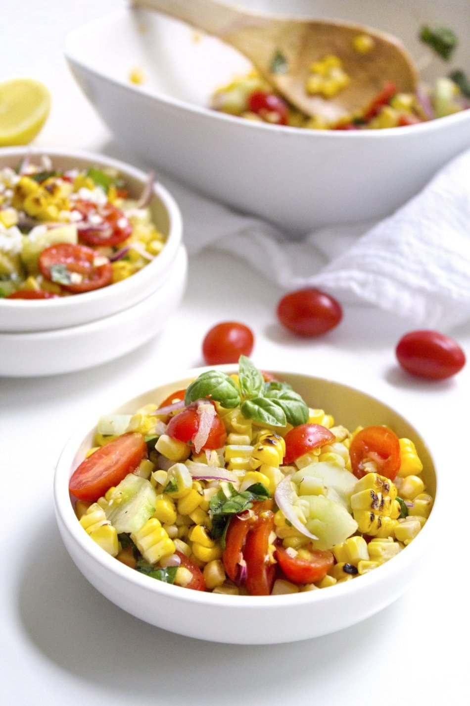Grilled Corn Salad | Quick, easy, and delicious corn salad full of fresh summer veggies!