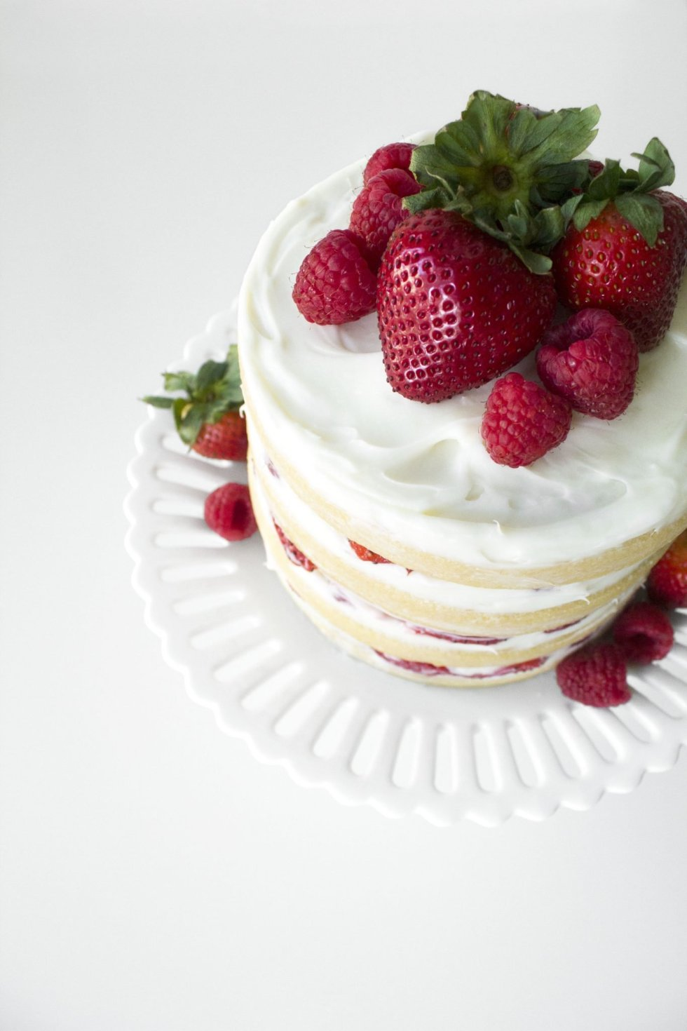 Gluten-Free White Chocolate & Summer Berry Cake
