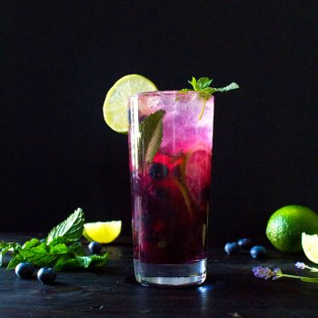 Blueberry-Lavender Fauxjito