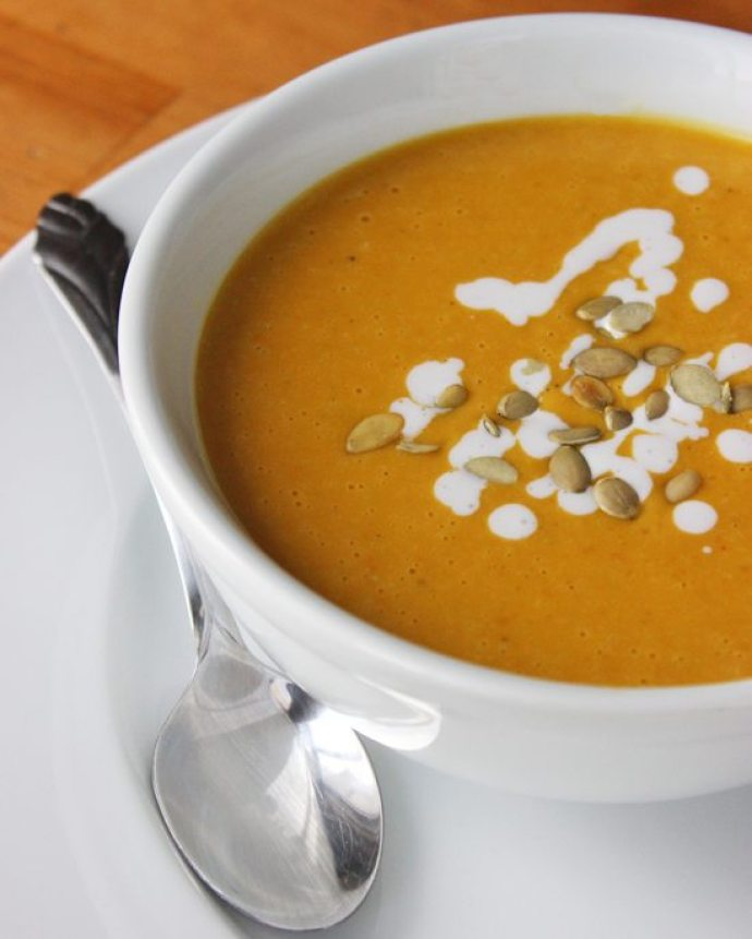 15 Must-Try Healthy Pumpkin Recipes To Celebrate Fall   Pumpkin Coconut Soup from Popsugar