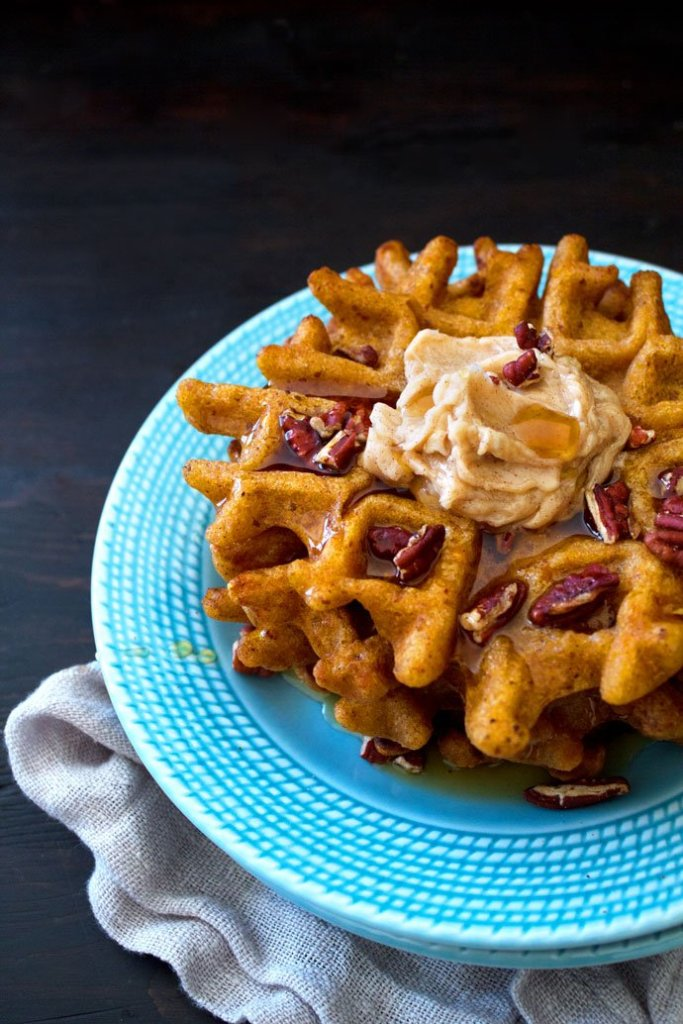 Sweet-Potato-Waffles-With-Cinnamon-Butter