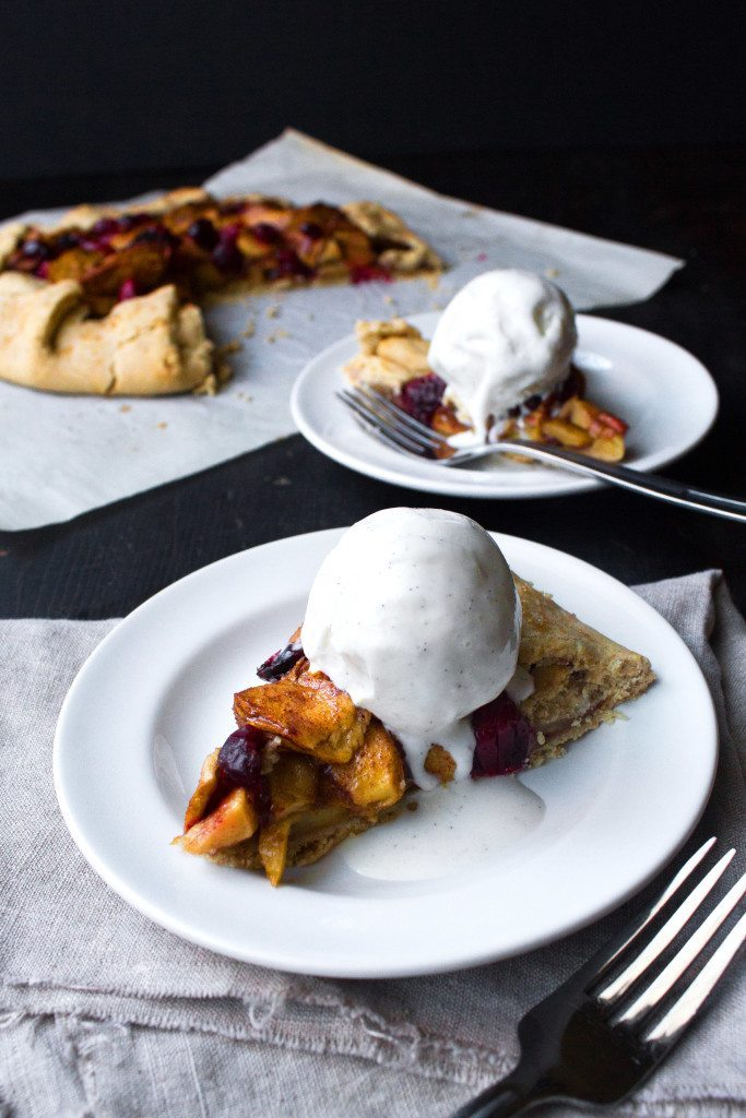 Apple-Cranberry Galette Piece