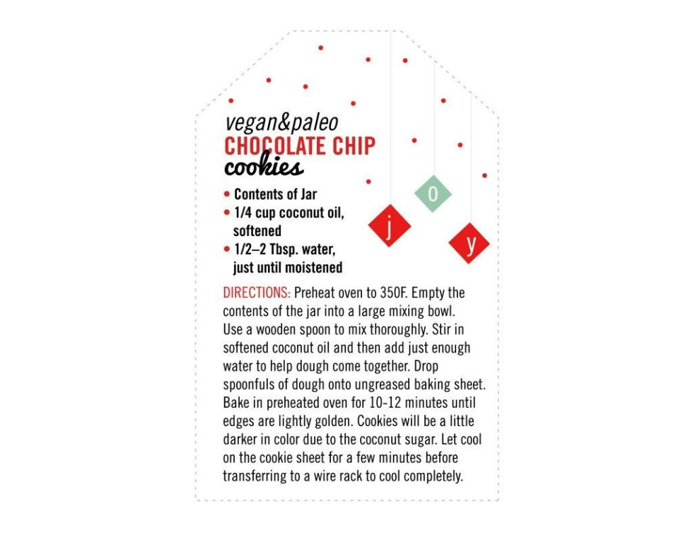 Free Printable Gift in a Jar Tags for Chocolate Chip Cookies!