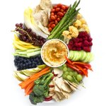 A Simple Crudités Platter & Easy Hummus Dip