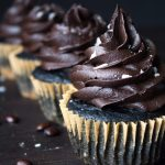 Salted Chocolate Mocha Cupcakes In A Row