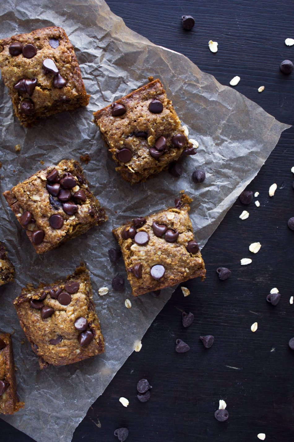 Chocolate Chip Coconut Oatmeal Bars | Free of Gluten, Dairy, and Refined Sugar