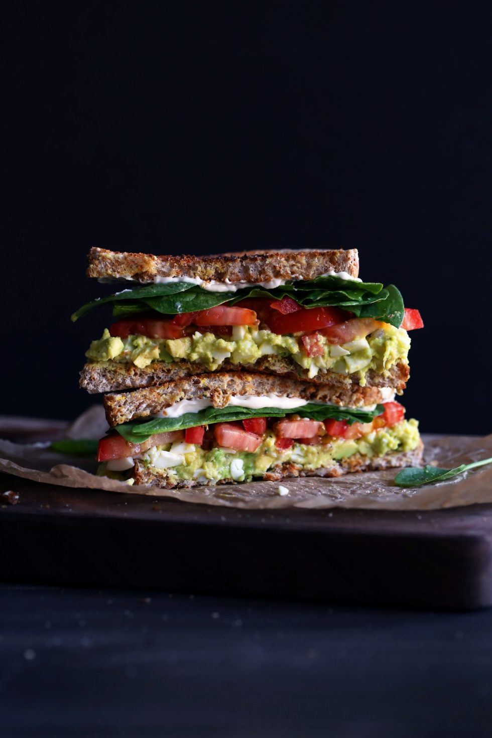 Avocado Egg Salad Sandwiches | Egg salad made with avocado instead of mayonnaise. Free of gluten and dairy.