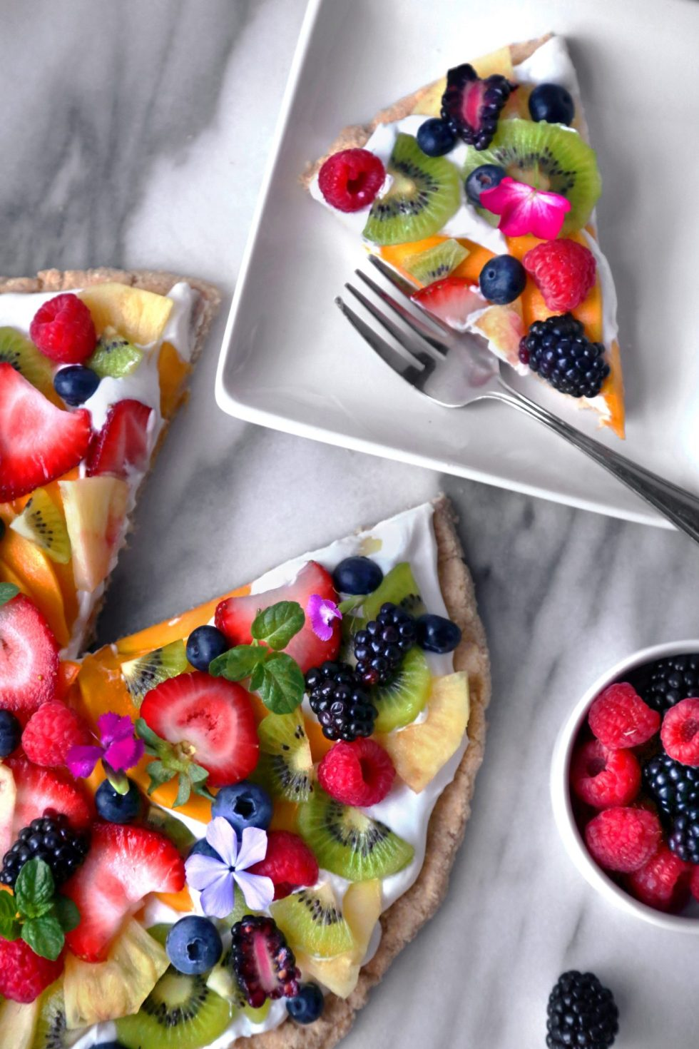 Healthier Tropical Fruit Pizza | Gluten, Grain, and Dairy Free; Paleo and Vegan Friendly | Wife Mama Foodie