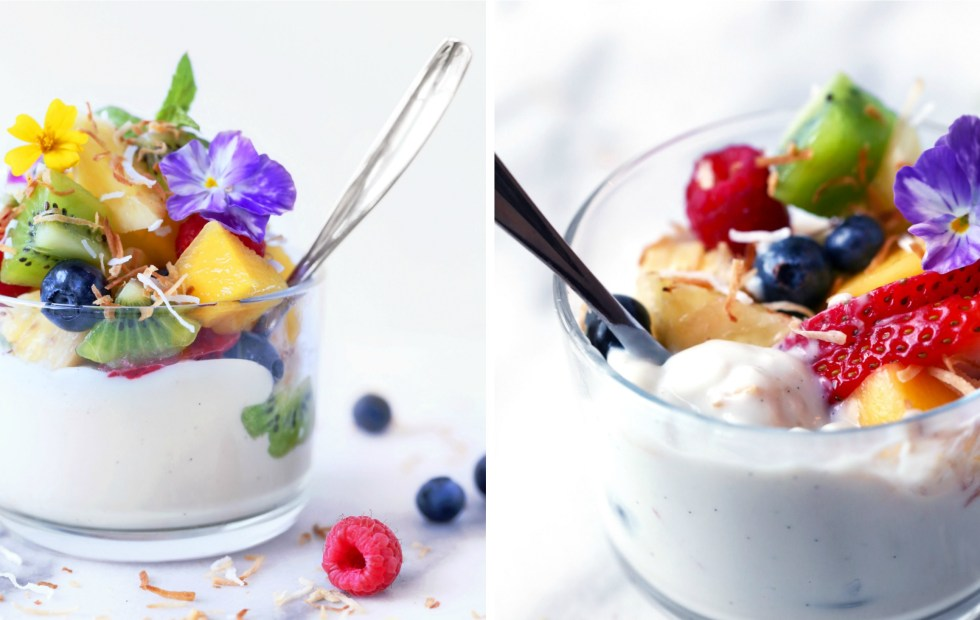 Haupia {Coconut} Pudding with Fresh Fruit   Vegan and paleo. Free of dairy, gluten, and grains.