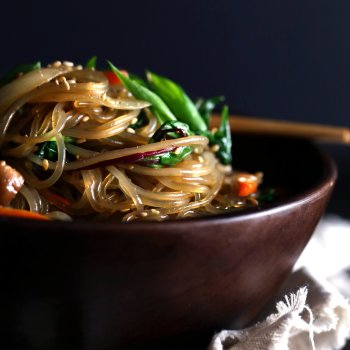 Stir-Fried Sweet Potato Noodles (Japchae)