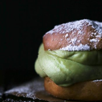 Cream Puffs with Matcha Coconut Cream