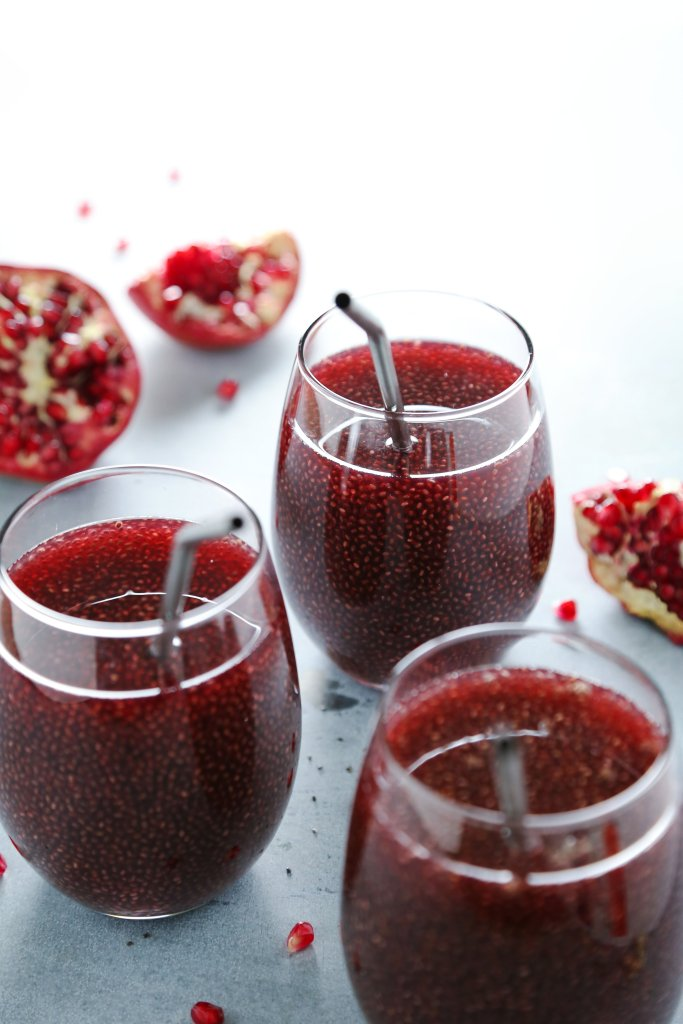Pomegranate Green Tea with Chia