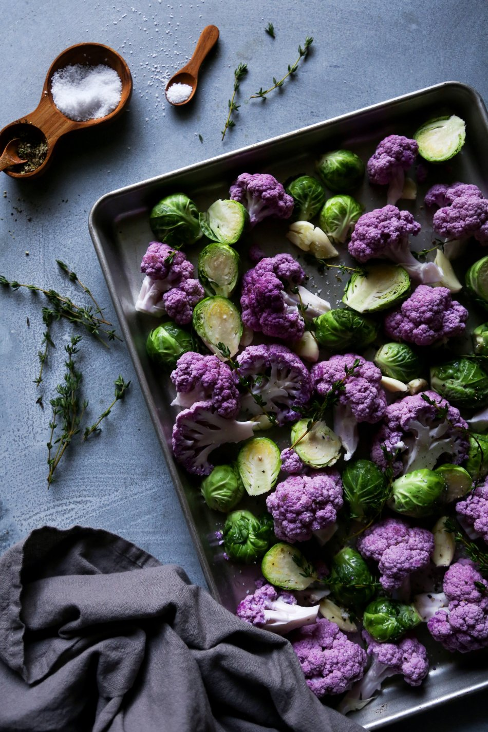 Roasted Cauliflower & Brussel Sprouts | Gluten & grain free side. Vegan/paleo friendly