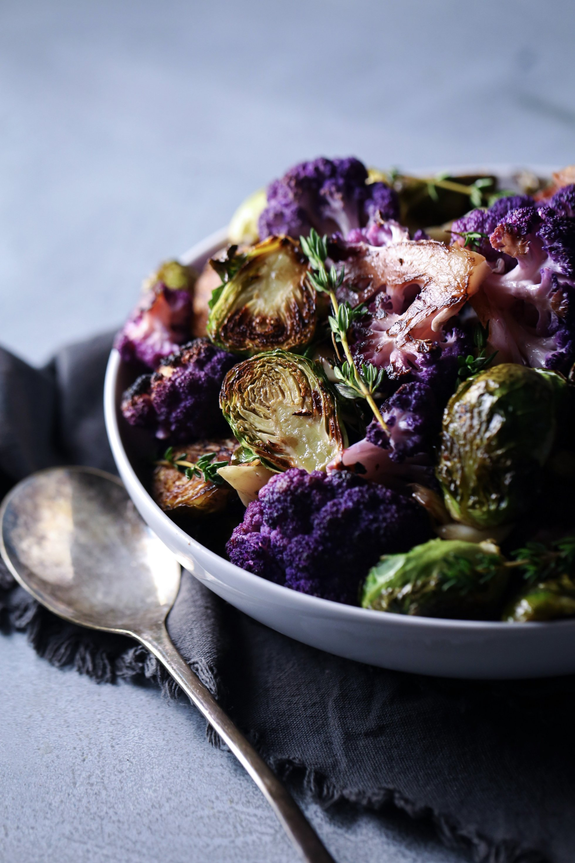 Roasted Cauliflower & Brussel Sprouts