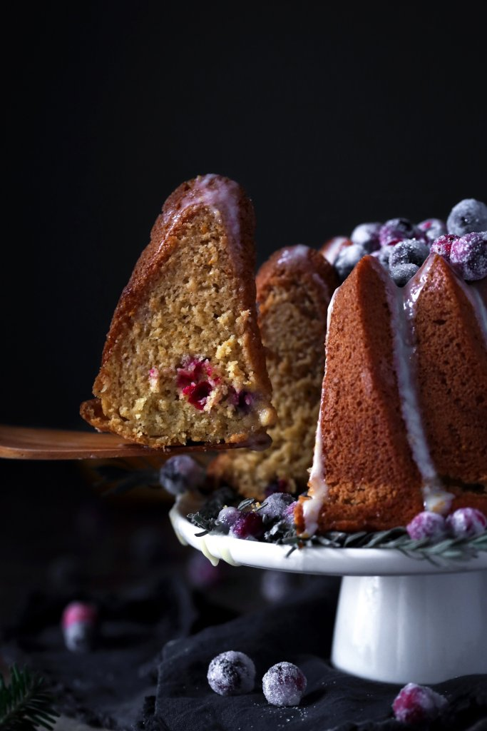 Orange-Cranberry Bundt Cake {Gluten-Free}