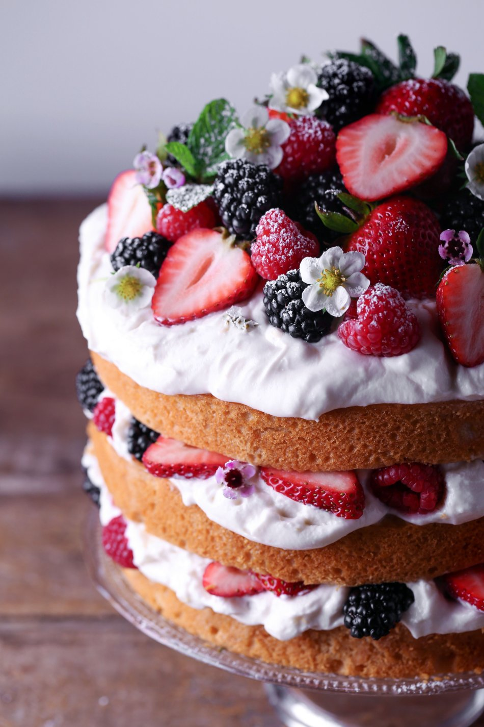 Lemon Layer Cake with Fresh Berries | Wife Mama Foodie