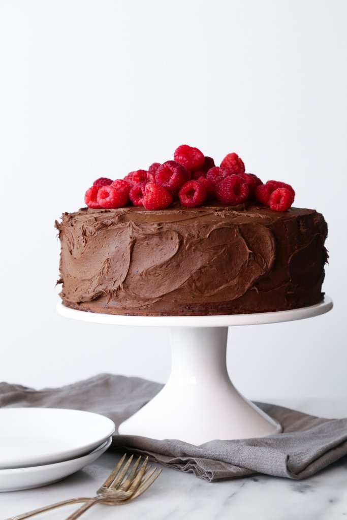 Chocolate Raspberry Layer CakeChocolate-Raspberry Layer Cake | Gluten & Dairy Free. Vegan Friendly.