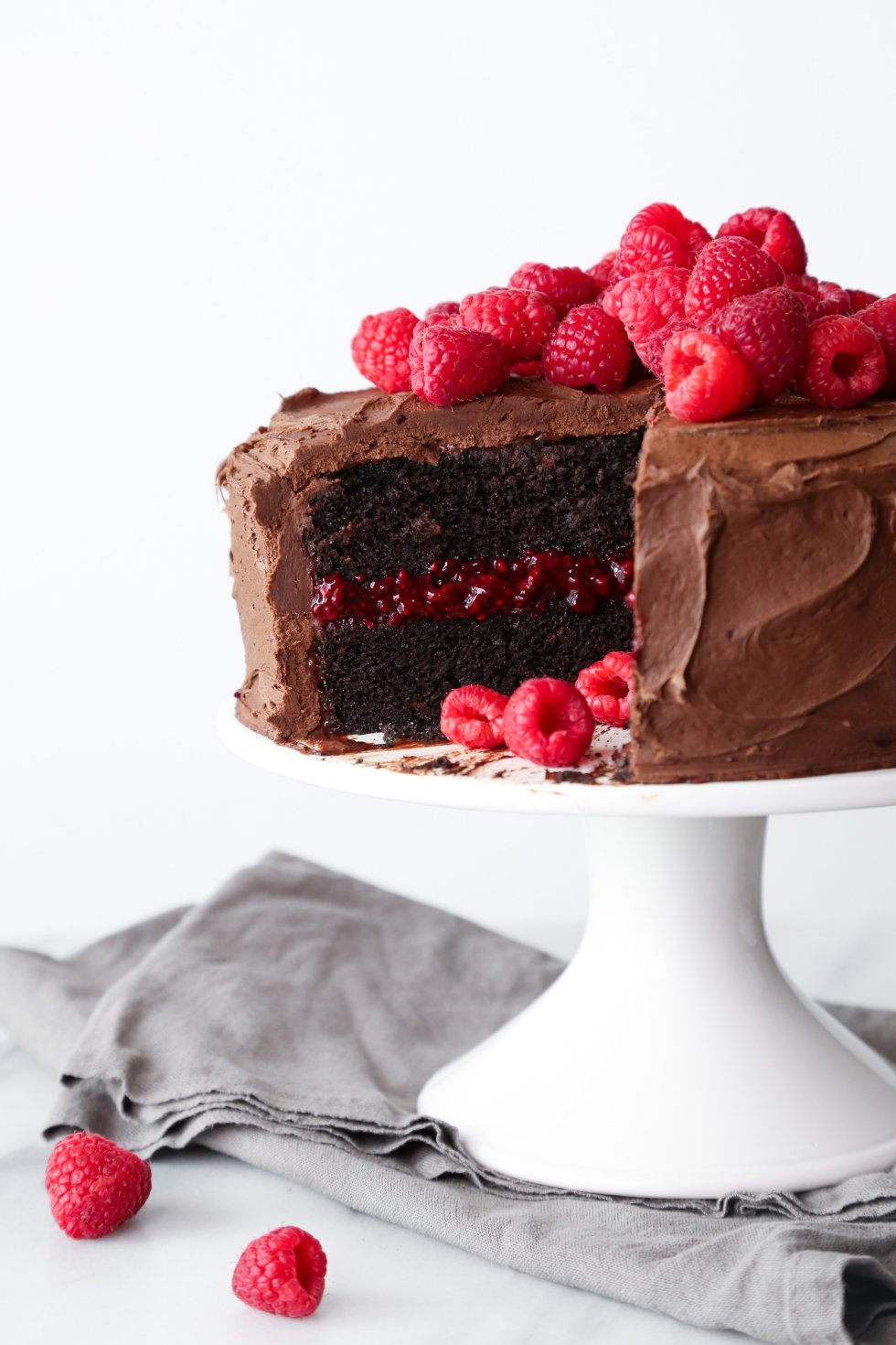 Chocolate-Raspberry Layer Cake | Wife Mama Foodie