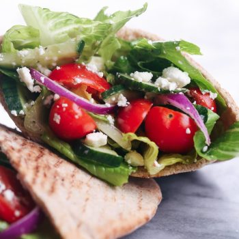 Greek Salad Stuffed Pitas
