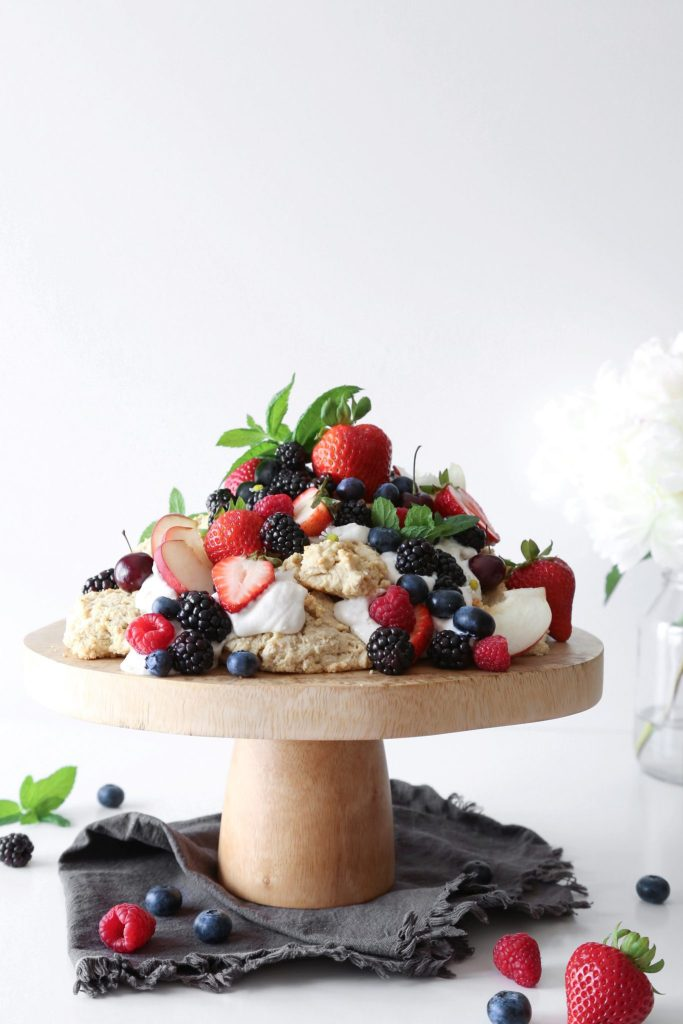 Oat Shortcakes with Summer Fruit | Vegan friendly. Free of gluten, dairy, and refined sugar.