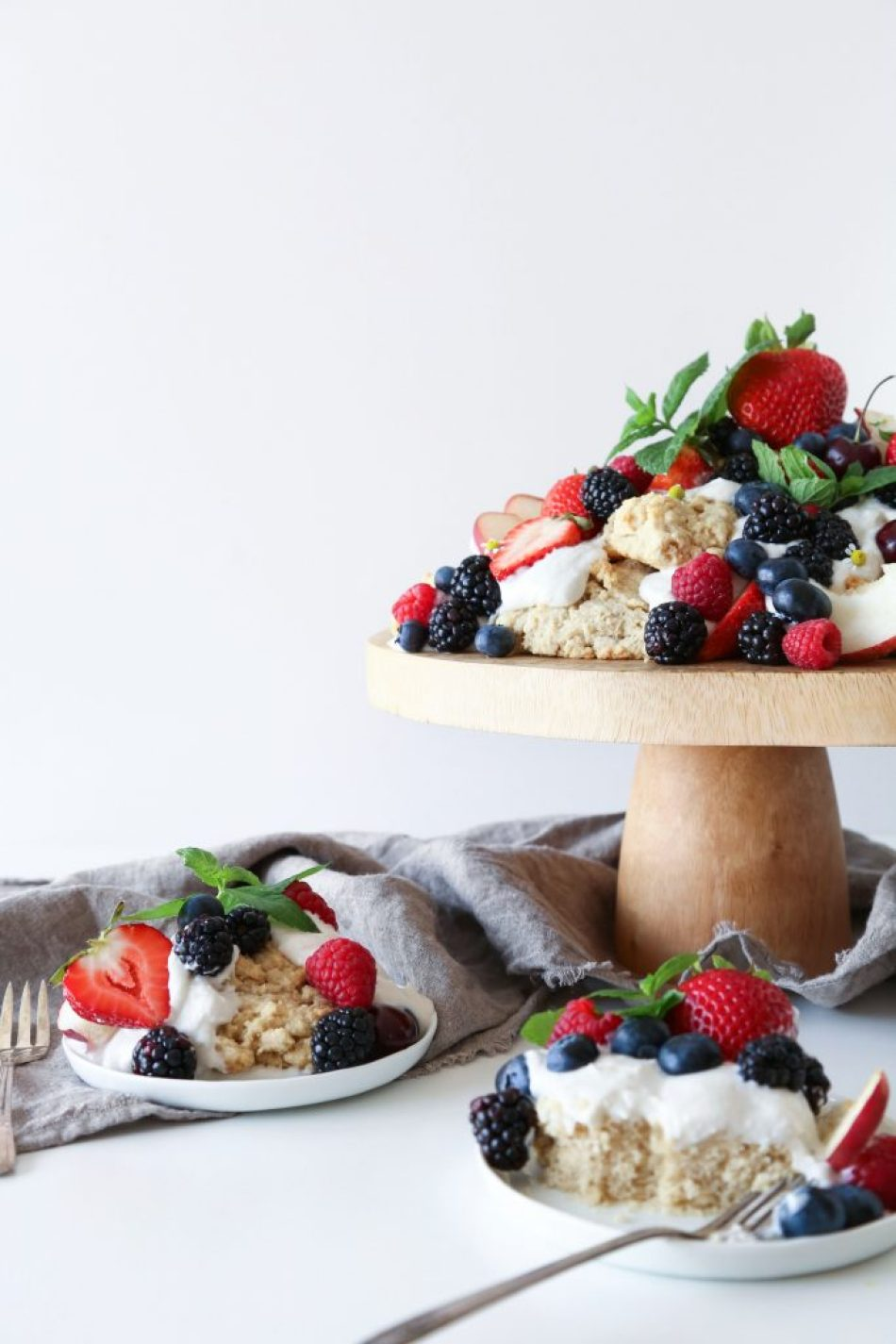 Oat Shortcakes with Summer Fruit   Vegan friendly. Free of gluten, dairy, and refined sugar.
