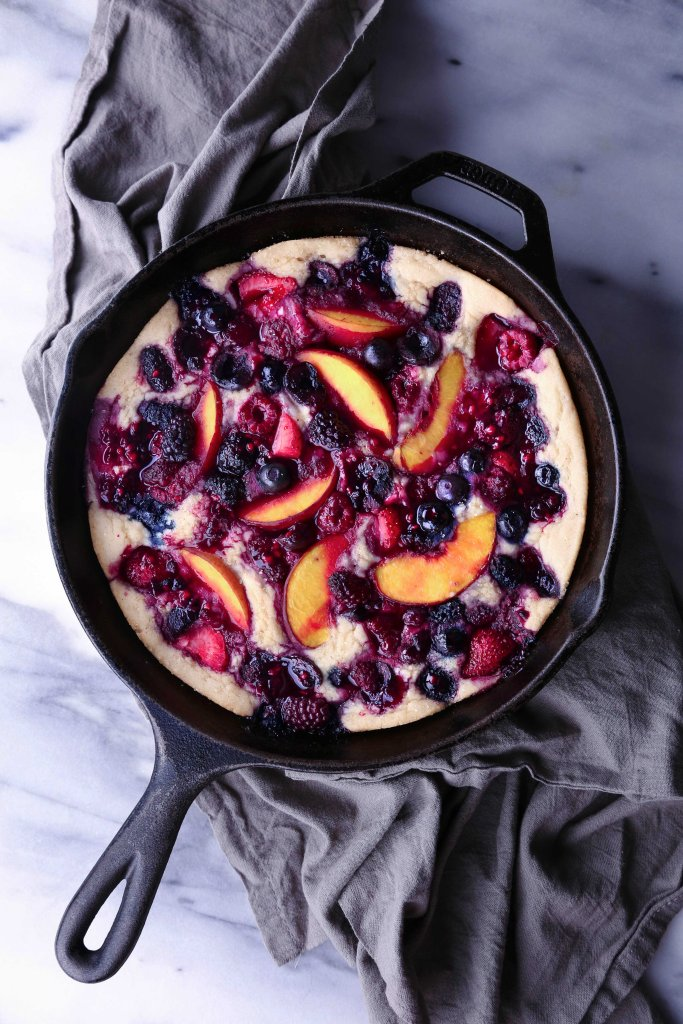 Easy Fruit Cobbler | Vegan friendly and free of dairy, eggs, and refined sugar, with a gluten-free alternative.
