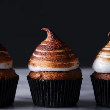 Sweet Potato Cupcakes with Toasted Marshmallow Meringue