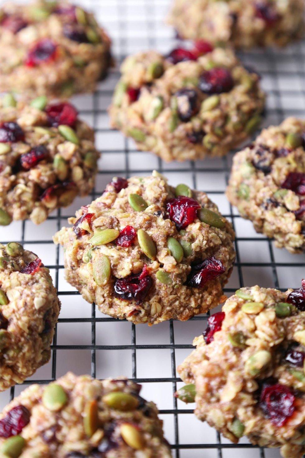 Superfood Breakfast Cookies | Vegan friendly. Gluten, dairy, and refined sugar free.