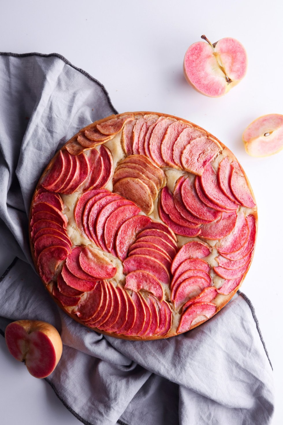 Simple Apple Cake with Hibiscus Syrup—Dairy, egg, and refined sugar free with gluten-free alternative! | Wife Mama Foodie