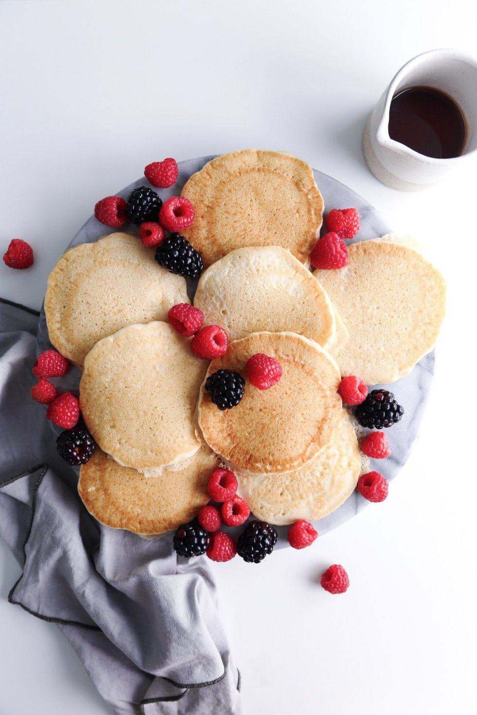 "Vegan ""Buttermilk"" Pancakes—Dairy, Egg, and Gluten Free 