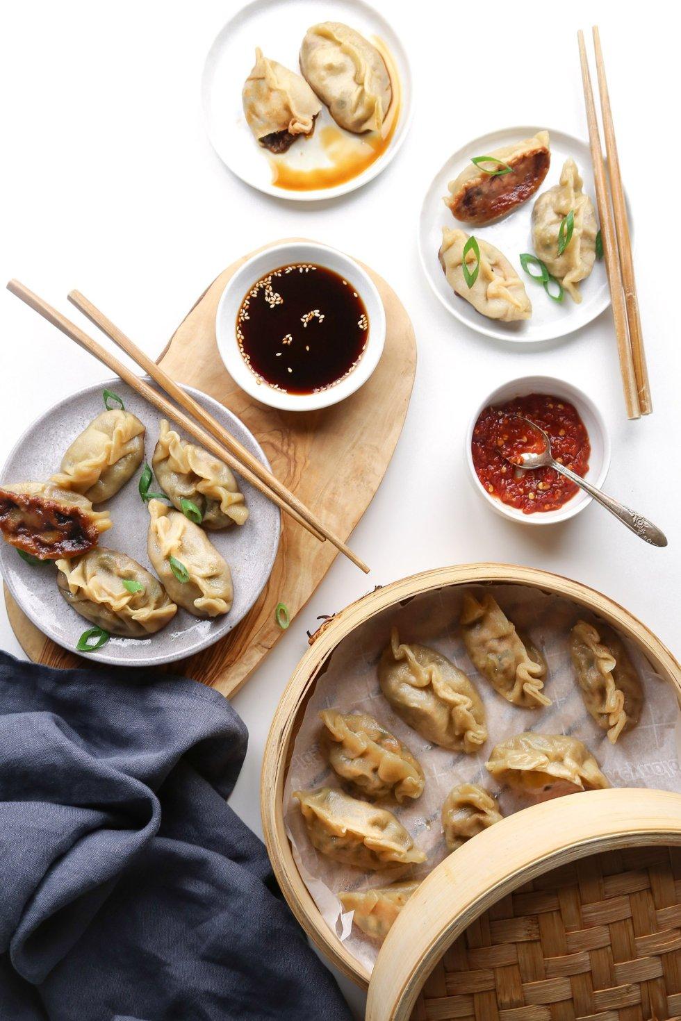Simple Vegetable Dumplings   Vegan friendly with GF option   Wife Mama Foodie