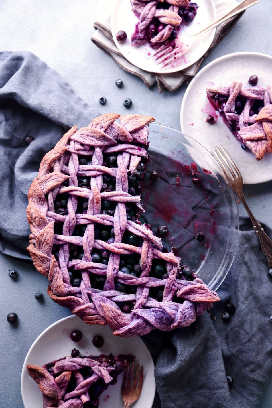 Blueberry Pie with Purple Berry Crust | Vegan friendly and refined sugar free with gluten-free alternative | Wife Mama Foodie