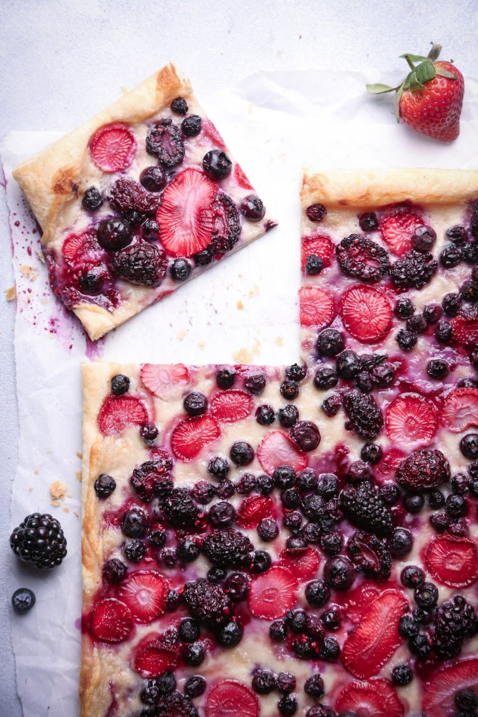 Easy Berry Puff Pastry Tart | Refined Sugar Free and Vegan Friendly | Wife Mama Foodie